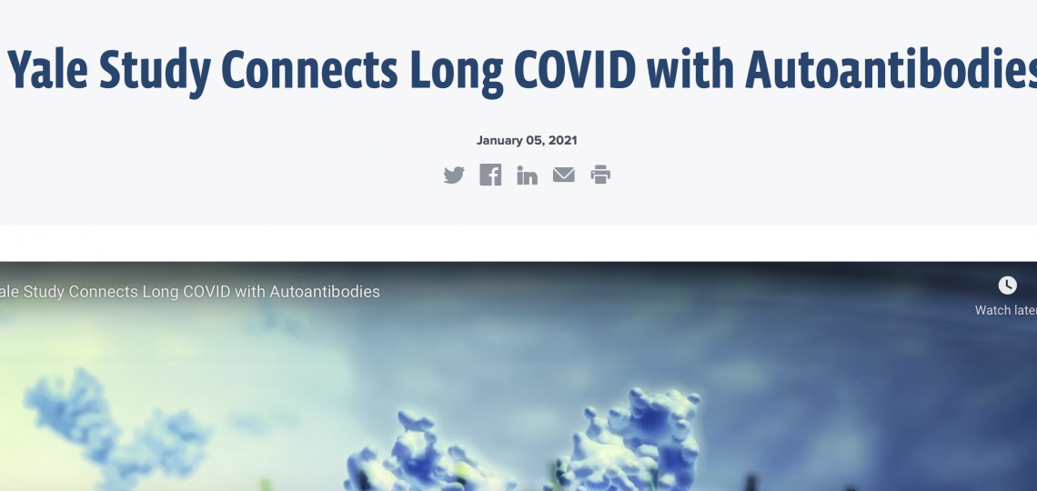 Yale Study Connects Long COVID with Autoantibodies